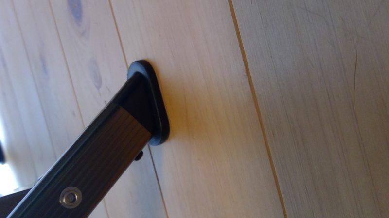 コールマンレイチェアの脚先端形状は樹脂製でフラット