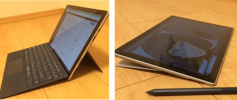 Surface Proスタジオモードとラップトップモード