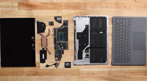 Surface Laptop 3分解画像