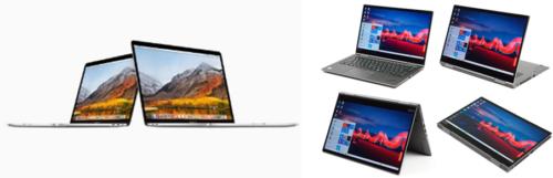 クラムシェル型と2in1型パソコン