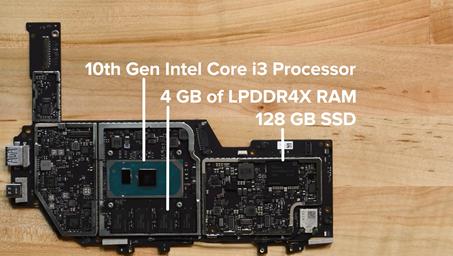 Surface pro7マザーボード Core-i3/4GBメモリ/128GB SSDモデル