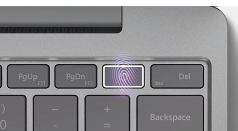 指紋認証電源ボタン