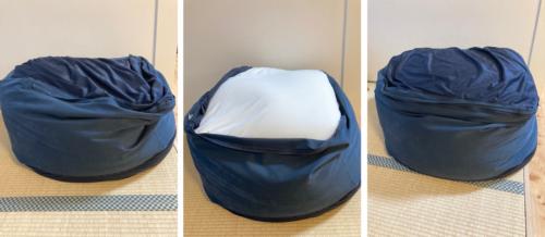 1年半使用した体にフィットするソファに補充クッションを投入