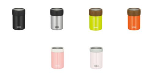 サーモスの保冷缶ホルダー350ml缶用カラーバリエーション
