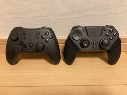 Q300とSwitchプロコン系コントローラーとのサイズ比較